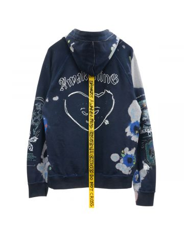 CLAIRE BARROW ENCOUNTER HOODIE / DARK BLUE