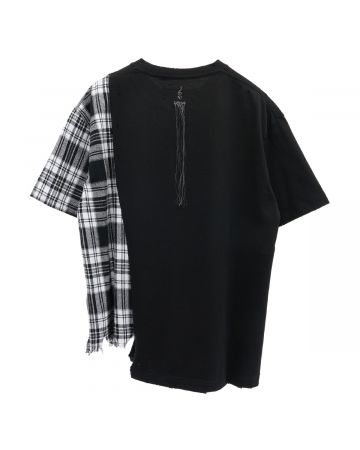 "C2H4 ""MY OWN PRIVATE PLANET"" PANELLED T-SHIRT / FOGGED BLACK"