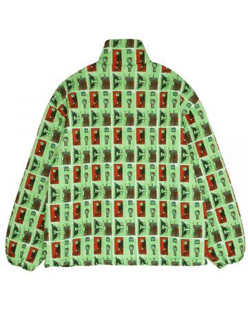 C.E SOURCE-OUTPUT QUILTED ZIP JACKET / GREEN