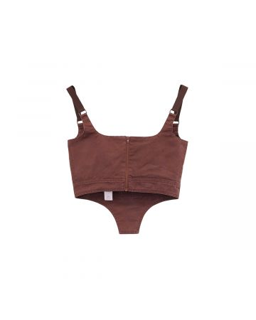 Charlotte Knowles BUSTIER WITH RIVETED SQUARE CUPS PANEL / PURPLE WASH