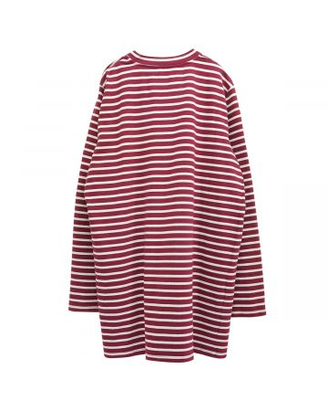 COOL T.M SAILOR OVERSIZE SWEATER / BURGUNDY