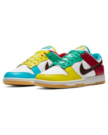 NIKE DUNK LOW SE / 100 : WHITE/LT CHOCOLATE-ROMA GREEN