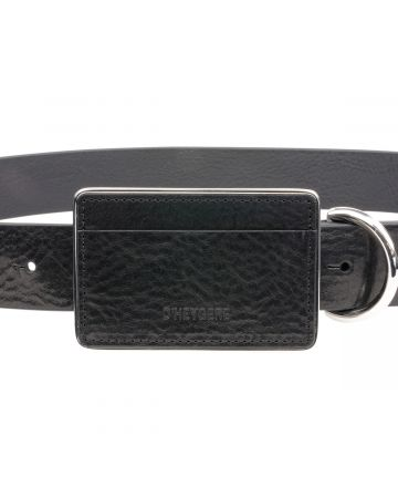 D'HEYGERE CARD HOLDER BELT / BLACK-SILVER