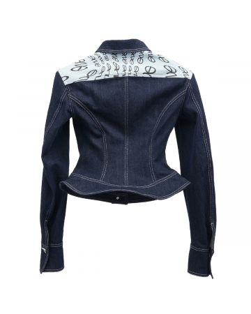 ENG x DIDU HOTNESS DENIM LOGO JACKET/ENG / BLUE
