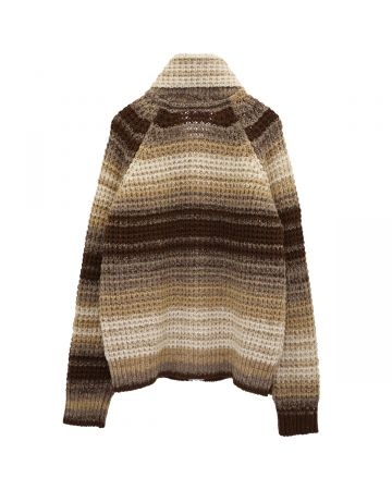 ERL SWEATER 2 ZIP KNIT / BROWN
