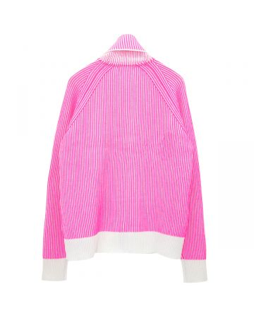 ERL SWEATER ZIP 3 KNIT / PINK