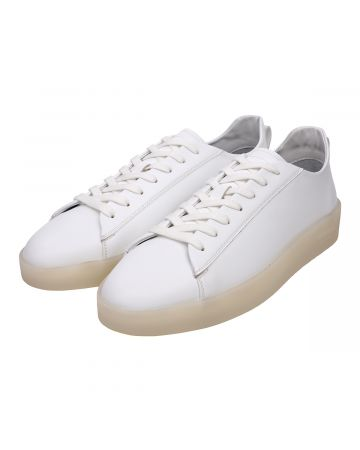ESSENTIALS TENNIS LOW SNEAKER / 100 : WHITE