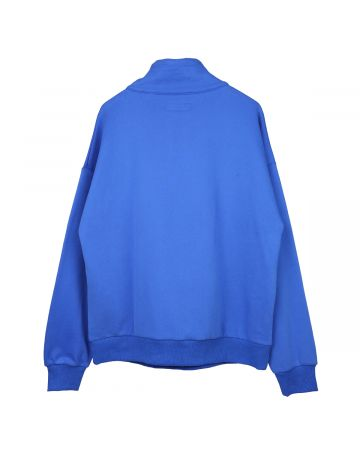 FUCKING AWESOME ROCKY 1/4 ZIP SWEATSHIRT / BLUE