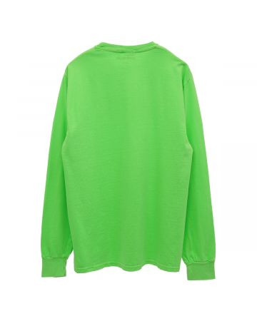 FUCKING AWESOME ACTUAL VISUAL GUIDANCE L/S TEE / G:PIGMENT DYED NEON GREEN