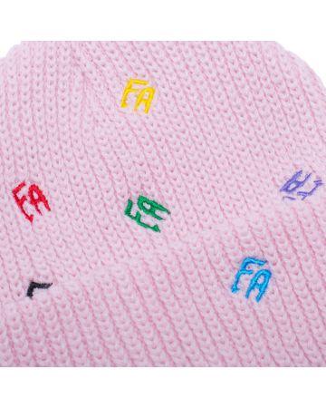 FUCKING AWESOME SCATTERED FA CUFF BEANIE / LIGHT PINK