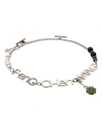 """Feng Chen Wang """"FCW"""" NECKLACE / SILVER"""