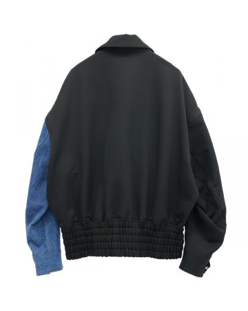 Feng Chen Wang CLASSIC JACKET WITH CONTRAST COLOR / BLACK-BLUE
