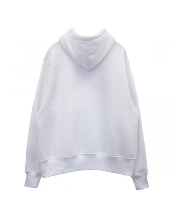 #FR2 WHY LOOK SO DIFFERENT? MESSAGE EMBROIDERY HOODIE / 001 : WHITE