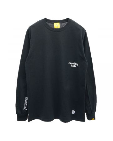 #FR2 SMOKING KILLS BOX LOGO LONGSLEEVE T-SHIRT / 029 : BLACK