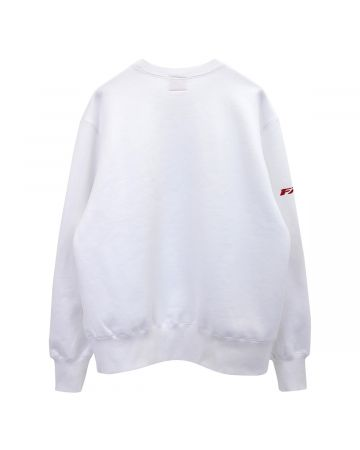 #FR2 BIKER GIRL CREW SWEAT / 001 : WHITE