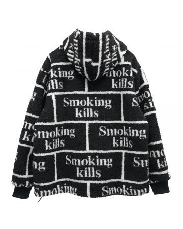 #FR2 SMOKING KILLS BOA ZIP UP HOODIE / 029 : BLACK