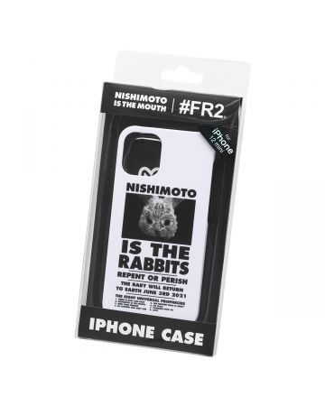 NISHIMOTO IS THE MOUTH Collaboration with #FR2 iPhone 12 mini CASE (RABBIT) / 001 : WHITE