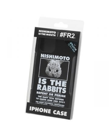 NISHIMOTO IS THE MOUTH Collaboration with #FR2 iPhone 12 Pro Max CASE (RABBIT) / 029 : BLACK