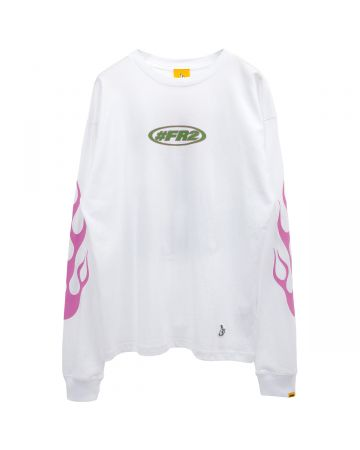 #FR2 FIGHT OVER A RABBITS LONGSLEEVE / 001 : WHITE