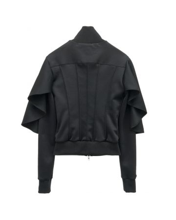 HOOD BY AIR TRACK JACKET WITH CORSET SHAPE / 999 : NERO