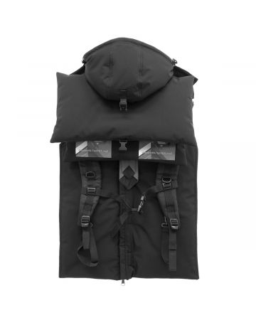 HOOD BY AIR VEST WITH STRAPS / 999 : BLACK