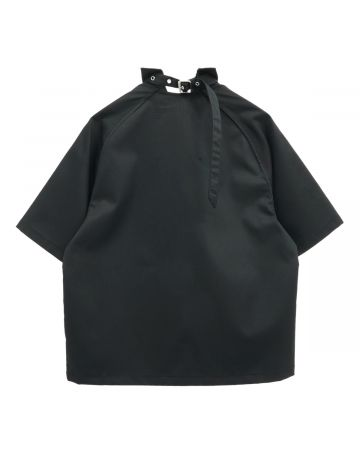 HOOD BY AIR SHIRT WITH RAGLAN SLEEVES / 999 : BLACK