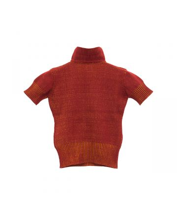 Isa Boulder TIGHT STRETCHED POLO TOP / CHILLI