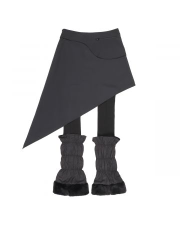 Jichoi WAIST BAG SKIRT W/LEG WARMERS / BLACK