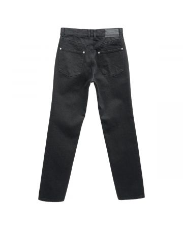 JOHN LAWRENCE SULLIVAN 5POCKET JEANS WITH BODY PIERCING JEWELRY / BLACK
