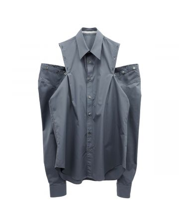 JOHN LAWRENCE SULLIVAN SHOULDER BUTTON SHIRT / GREY
