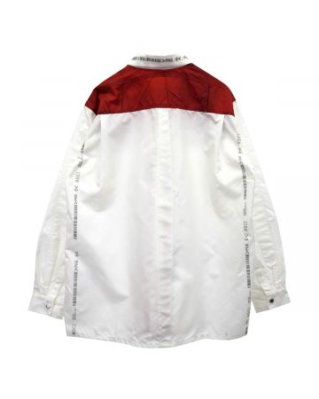 KANGHYUK READYMADE AIRBAG PATCHED SHIRT / OFF WHITE
