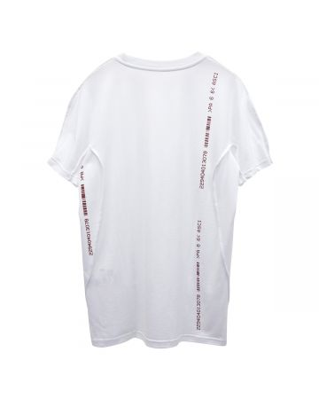 KANGHYUK COTTON REVERSIBLE SHORT SLEEVE T-SHIRT / WHITE