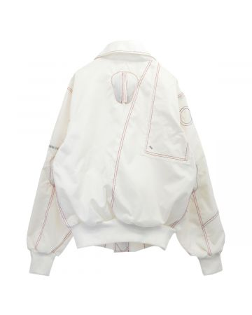 KANGHYUK READYMADE AIRBAG ELBOW-GUARDED BOMBER / OFF WHITE