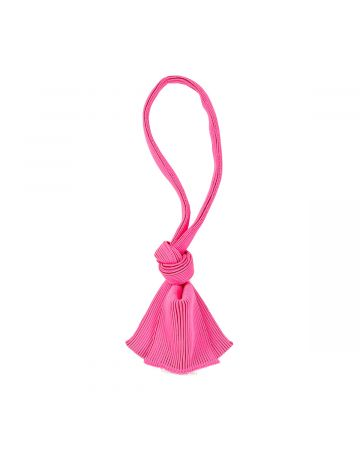 LASTFRAME TWO TONE TINY TIE BAG / NEON PINK-BORDEAUX