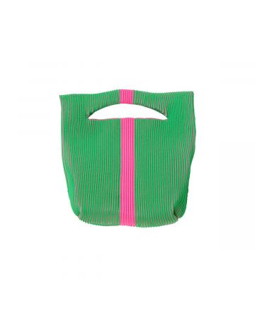 LASTFRAME TWO TONE LINE BASKET / GREEN-NEON PINK