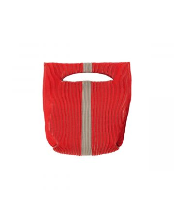 LASTFRAME TWO TONE LINE BASKET / RED-BEIGE