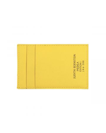 MEDEA  JUDITH BERNSTEIN CARD HOLDER / SAFTY YELLOW