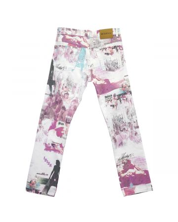 MISBHV THE POSTCARD FROM IBIZA DENIM  TROUSERS / MULTICOLOR