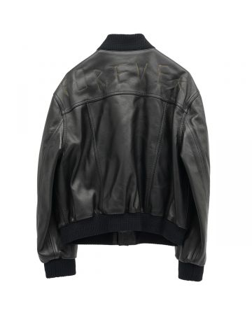 MAGLIANO FOREVER LEATHER JACKET / 166 : LEATHER BLACK