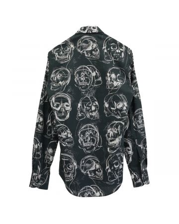 ALEXANDER McQUEEN PRINTED SHIRT PAINTED S / BLACK-WHITE