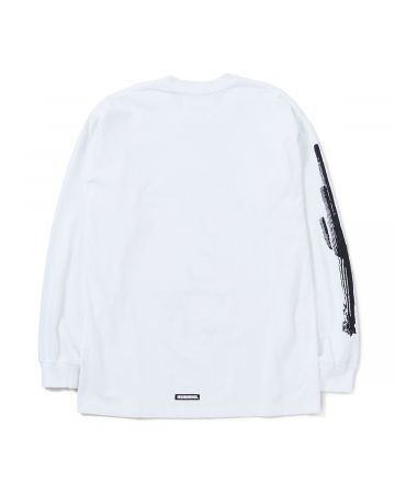 NEIGHBORHOOD x ONE OF THESE DAYS OOTD-1/C-CREW.LS / WHITE