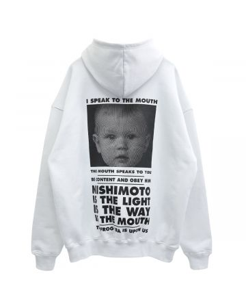 NISHIMOTO IS THE MOUTH HOODIE / WHITE