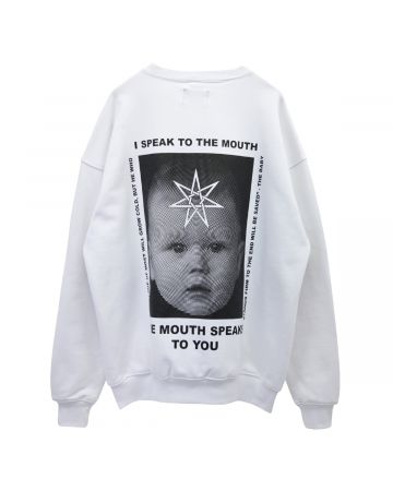 NISHIMOTO IS THE MOUTH SWEATSHIRT / WHITE