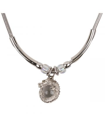 OHT NYC DRAGON AMULET NECKLACE / SILVER