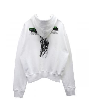 OFF-WHITE c/o Virgil Abloh MENS MIRKO TWO OVER HOODIE / 0110 : WHITE BLACK