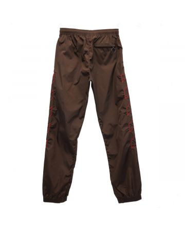 OFF-WHITE c/o Virgil Abloh MENS DIAG NYLON TRACKPANT / 6025 : BROWN RED