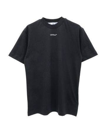 OFF-WHITE c/o Virgil Abloh WOMENS PRINTED CASUAL TEE / 1001 : BLACK WHITE