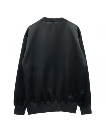 OFF-WHITE c/o Virgil Abloh WOMENS SHINY FLEECE GRAFFITI CRNECK / 1084 : BLACK MULTICOLOR
