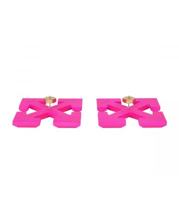 OFF-WHITE c/o Virgil Abloh WOMENS BIG ARROW EARRING / 3000 : PINK NO COLOR