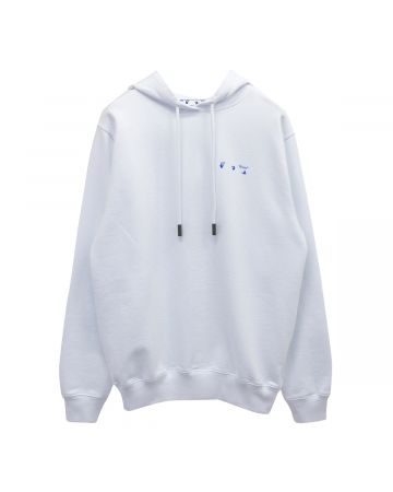 OFF-WHITE c/o Virgil Abloh WOMENS FLOWERS ARROWS REG HOODIE / 0145 : WHITE BLUE